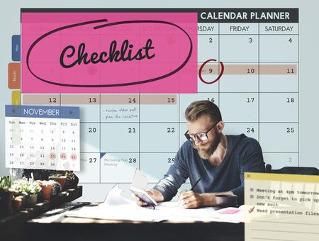 56255714 - checklist appointment schedule event concept